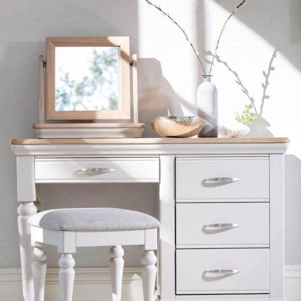 Tenby bedroom dressing table, mirror and stool