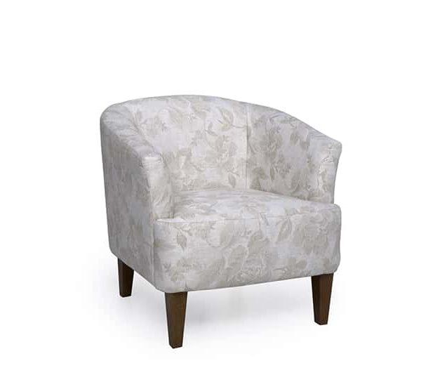 white cyrus armchair