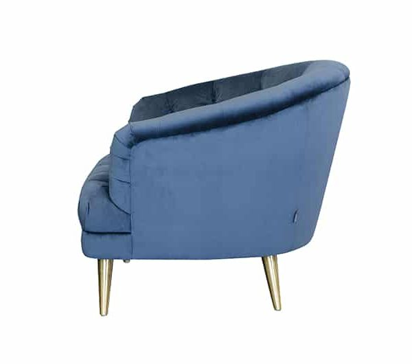 Teal Florence Chair side view