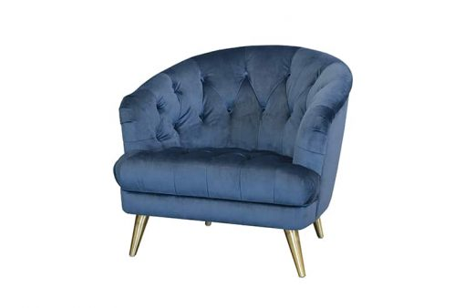 Teal Florence Chair front view
