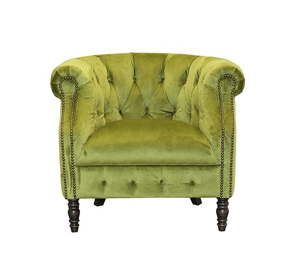 Jude Chair in mystic grass fabric