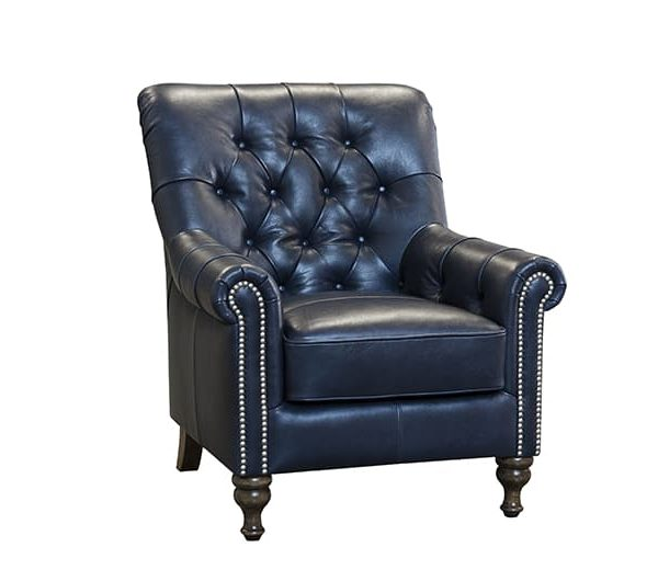 sofia chair in aurora indigo leather