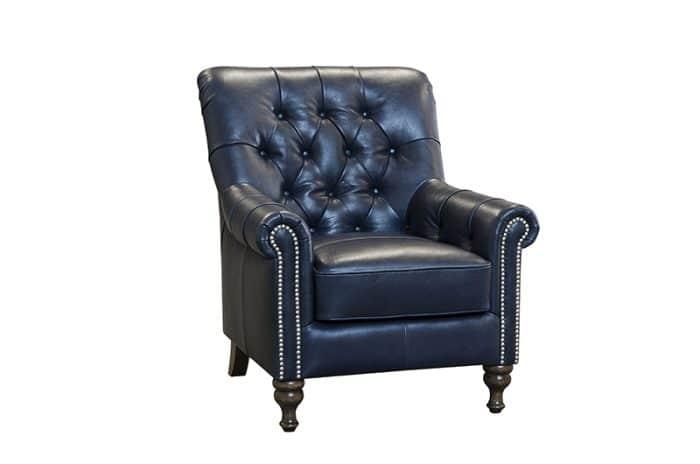sofia chair in aurora indigo leather