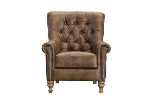 sofia chair in cal tan leather