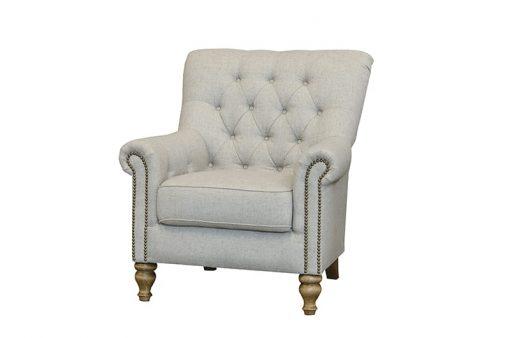 sofia chair in artisan stone fabric