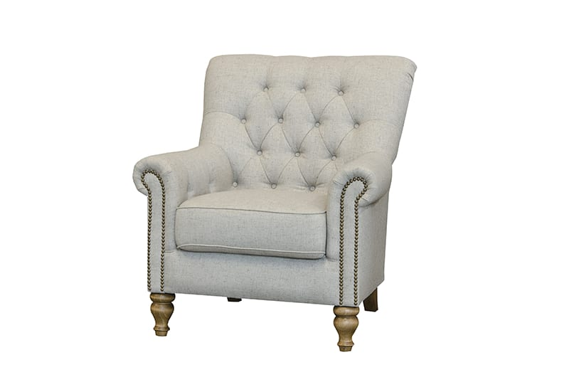 sofia chair in artisan stone fabric