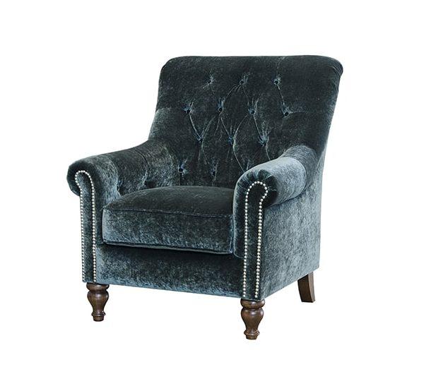 sofia chair in mineral emerald fabric