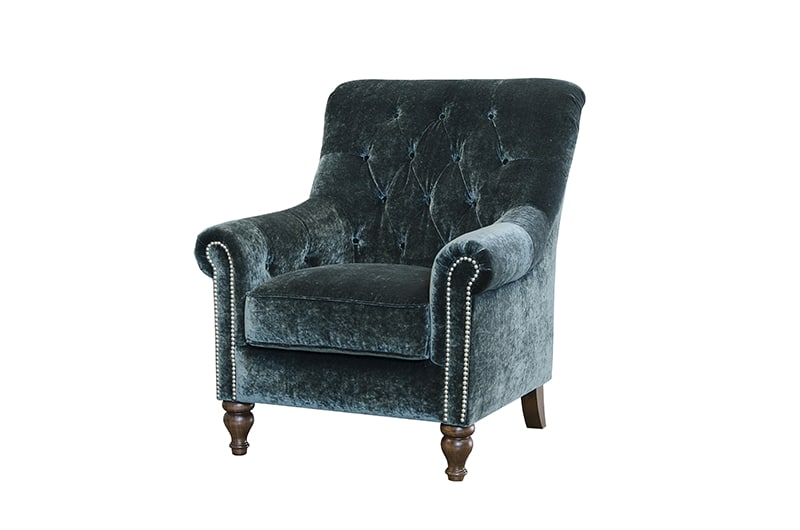 sofia chair in mineral emerald fabric