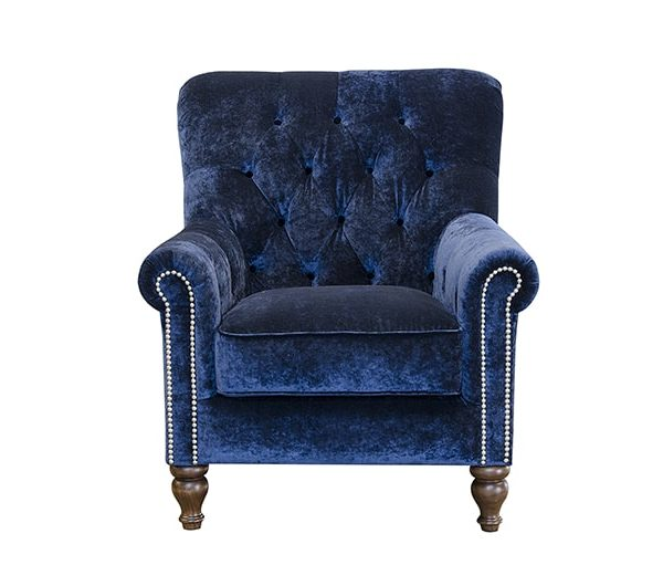 Sofia chair in mineral midnight fabric