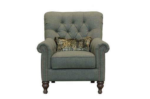 Sofia Chair in poole ivy fabric
