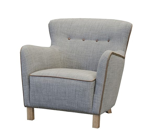 stockholm chair in bamburugh rosso fabric