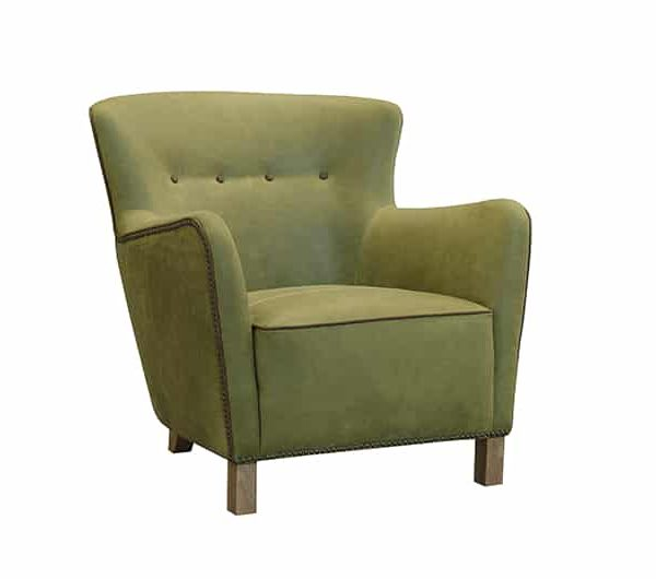 stockholm chair in green fabric