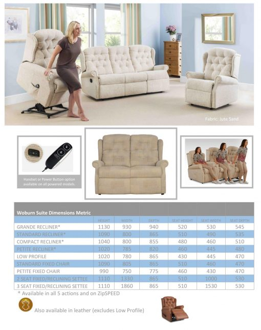 WOburn Chair specification sheet