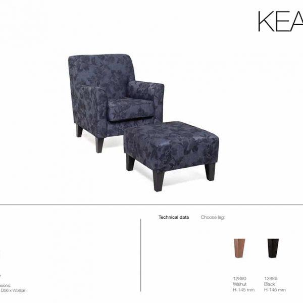 keats chair specification sheet