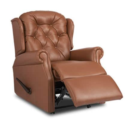 Woburn leather chair half reclined