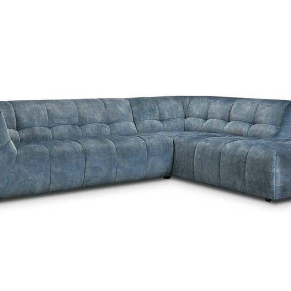 Crete Blue Corner Sofa
