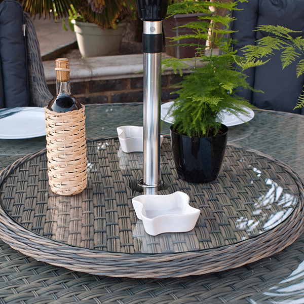 Crete 180cm Round Table & 8 Chairs