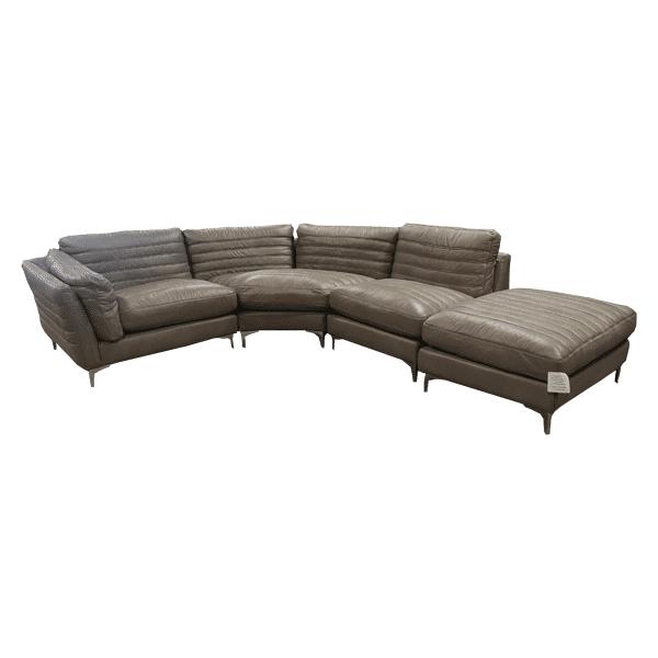 Groove Corner Sofa & Footstool