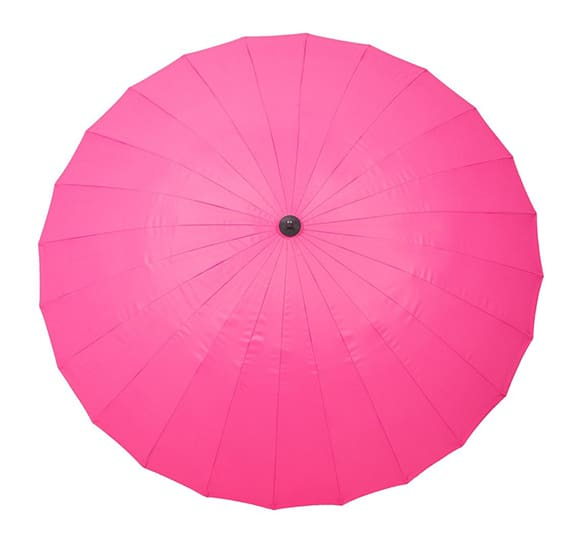 Shanghai Parasol - 2.7m Crank and Tilt Pink